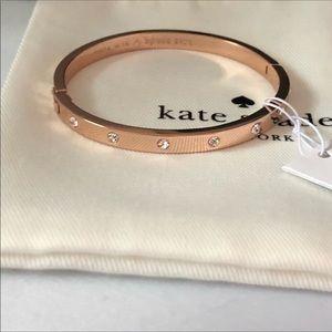 Kate Spade rose gold Crystal bangle